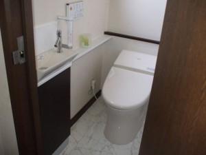 トイレ取替え、手洗い器取り付け