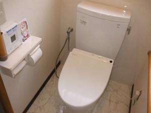 トイレの便器を超節水型のトイレに取り替えました。
